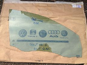 2009 VW GOLF TDI MK6 GENUINE OSF DOOR GLASS BREAKING
